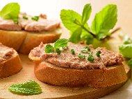 Рецепта Хайвер (пастет, дип) от телешки мозък с чесън и лимонов сок